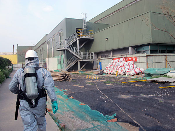 Cyanide Level Air Testing After Explosion in China