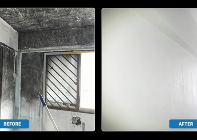 Before & After | Fire and Soot Restoration Project by Disaster Restoration Singapore