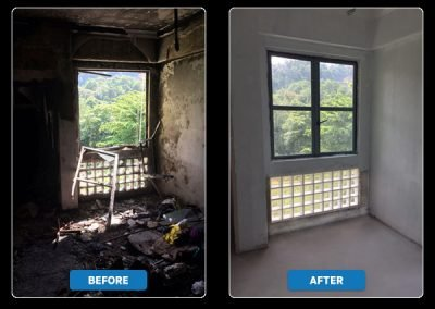 Before & After Fire Damage Restoration by DRS