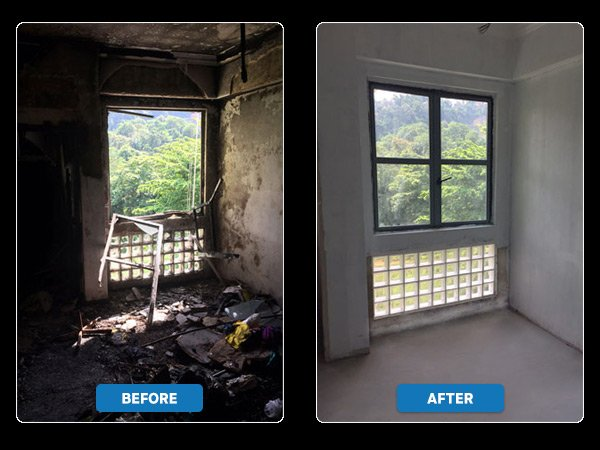 fire-restoration-fixing-window-house-after-damage
