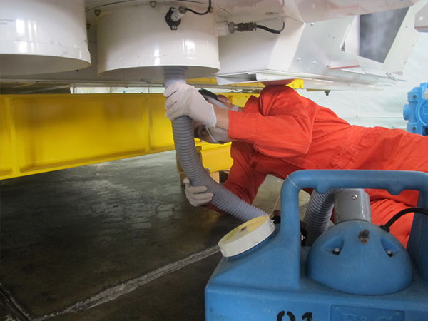 Mold Remediation of a Flight Simulator in Singapore