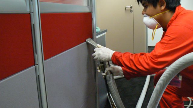 Application of Anti-microbial to Prevent Mold Growth