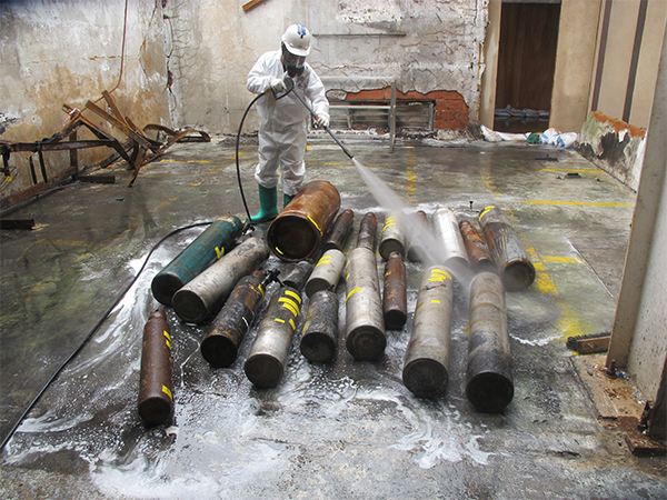 Removal of Hazardous Gas Cylinders After Explosion